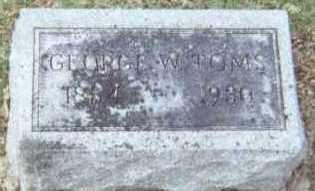 TOMS, GEORGE W. - Linn County, Iowa   GEORGE W. TOMS