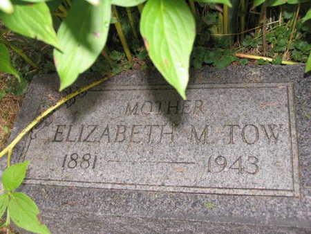 TOW, ELIZABETH M. - Linn County, Iowa   ELIZABETH M. TOW