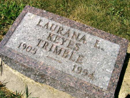 KEYES TRIMBLE, LAURANA L. - Linn County, Iowa | LAURANA L. KEYES TRIMBLE