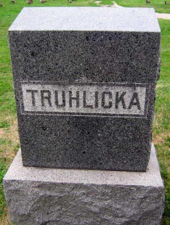 TRUHLICKA, FAMILY STONE - Linn County, Iowa   FAMILY STONE TRUHLICKA