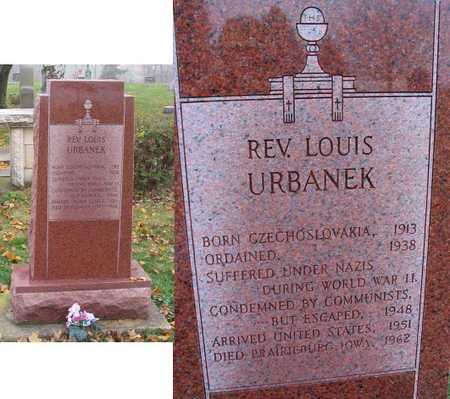 URBANEK, LOUIS, REV. - Linn County, Iowa   LOUIS, REV. URBANEK