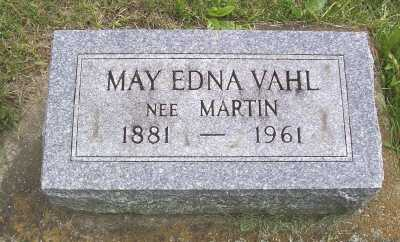 VAHL, MAY EDNA - Linn County, Iowa | MAY EDNA VAHL
