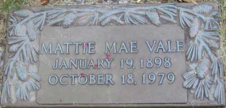 VALE, MATTIE MAE - Linn County, Iowa | MATTIE MAE VALE