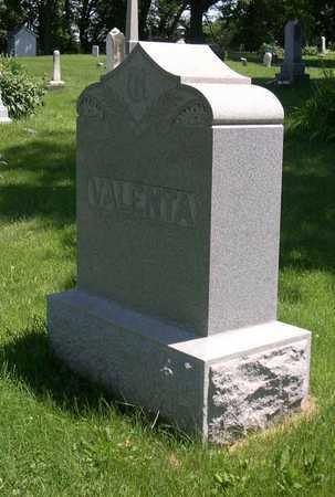 VALENTA, FAMILY STONE - Linn County, Iowa   FAMILY STONE VALENTA