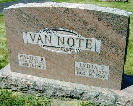 VAN NOTE, LYDIA J. - Linn County, Iowa   LYDIA J. VAN NOTE