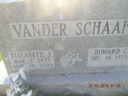 VANDER SCHAF, ELIZABETH J. - Linn County, Iowa   ELIZABETH J. VANDER SCHAF