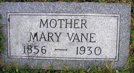 VANE, MARY - Linn County, Iowa | MARY VANE