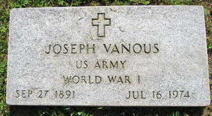VANOUS, JOSEPH - Linn County, Iowa | JOSEPH VANOUS