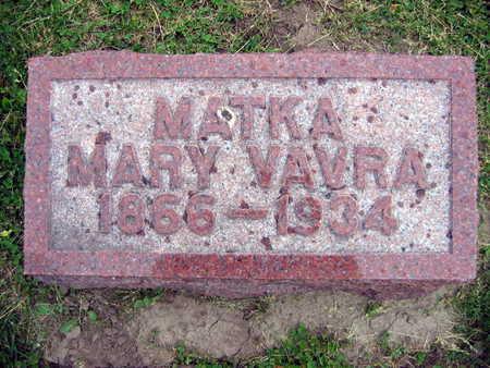 VAVRA, MARY - Linn County, Iowa | MARY VAVRA