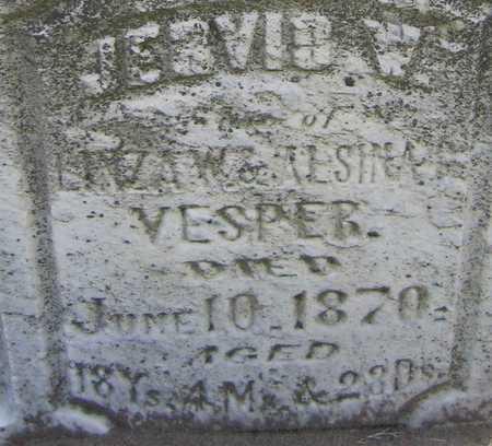 VESPER, JERVIS W. - Linn County, Iowa | JERVIS W. VESPER