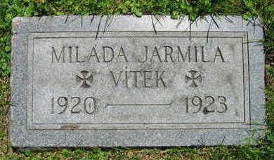 VITEK, MILADA JARMILA - Linn County, Iowa   MILADA JARMILA VITEK