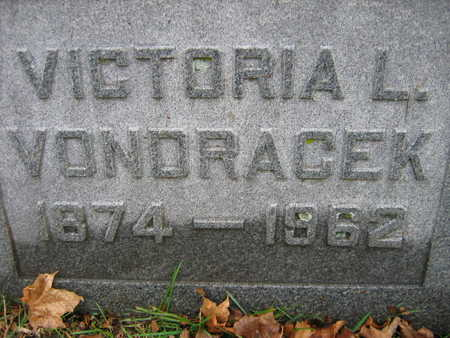 VONDRACEK, VICTORIA L. - Linn County, Iowa   VICTORIA L. VONDRACEK