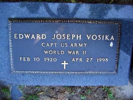 VOSIKA, EDWARD JOSEPH - Linn County, Iowa   EDWARD JOSEPH VOSIKA