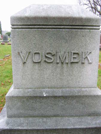VOSMEK, FAMILY STONE - Linn County, Iowa | FAMILY STONE VOSMEK