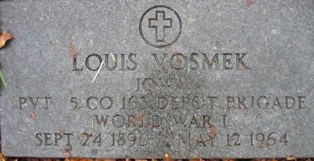 VOSMEK, LOUIS - Linn County, Iowa   LOUIS VOSMEK