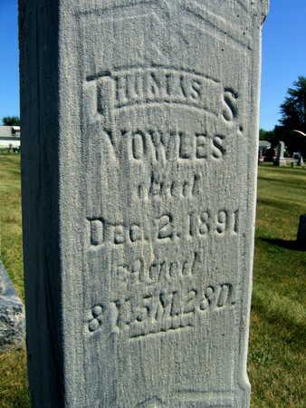 VOWLES, THOMAS S. - Linn County, Iowa | THOMAS S. VOWLES