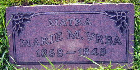 VRBA, MARIE M. - Linn County, Iowa   MARIE M. VRBA