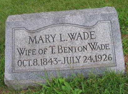 WADE, MARY L. - Linn County, Iowa   MARY L. WADE