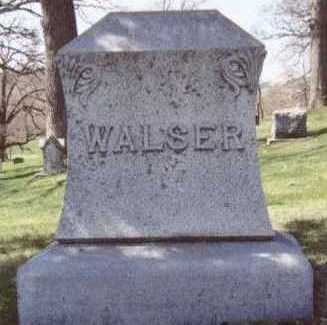 WALSER, FAMILY STONE - Linn County, Iowa   FAMILY STONE WALSER