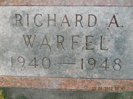 WARFEL, RICHARD A. - Linn County, Iowa | RICHARD A. WARFEL