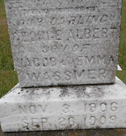 WASSMER, GEORGE ALBERT - Linn County, Iowa | GEORGE ALBERT WASSMER