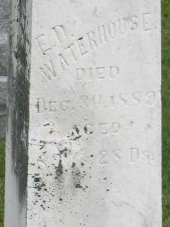 WATERHOUSE, E.D. - Linn County, Iowa | E.D. WATERHOUSE