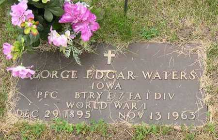 WATERS, GEORGE EDGAR - Linn County, Iowa | GEORGE EDGAR WATERS