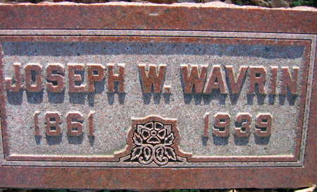 WAVRIN, JOSEPH W. - Linn County, Iowa | JOSEPH W. WAVRIN