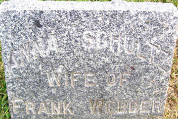 SCHULTZ WEBBER, ANNA - Linn County, Iowa | ANNA SCHULTZ WEBBER