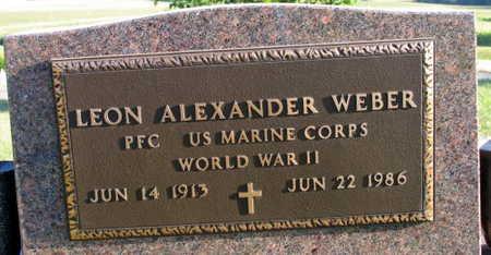 WEBER, LEON ALEXANDER - Linn County, Iowa | LEON ALEXANDER WEBER