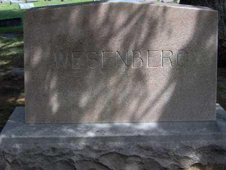 WESENBERG, FAMILY STONE - Linn County, Iowa   FAMILY STONE WESENBERG
