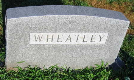 WHEATLEY, FAMILY STONE - Linn County, Iowa | FAMILY STONE WHEATLEY