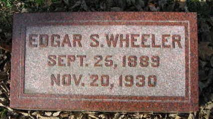 WHEELER, EDGAR S - Linn County, Iowa   EDGAR S WHEELER