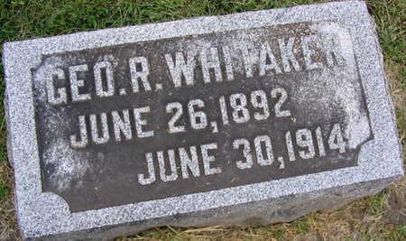 WHITAKER, GEORGE R. - Linn County, Iowa | GEORGE R. WHITAKER