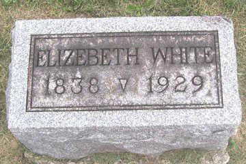 WHITE, ELIZEBETH - Linn County, Iowa | ELIZEBETH WHITE