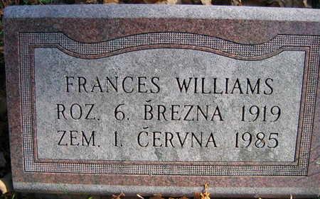 WILLIAMS, FRANCES - Linn County, Iowa | FRANCES WILLIAMS