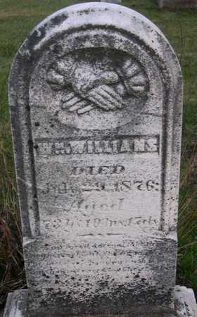 WILLIAMS, WM. - Linn County, Iowa   WM. WILLIAMS