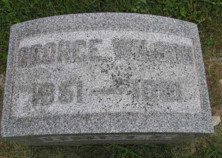 WILSON, GEORGE - Linn County, Iowa   GEORGE WILSON