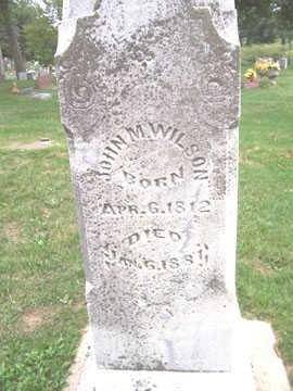 WILSON, JOHN M. - Linn County, Iowa   JOHN M. WILSON