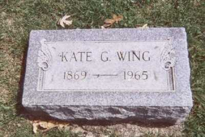 WING, KATE G. - Linn County, Iowa | KATE G. WING