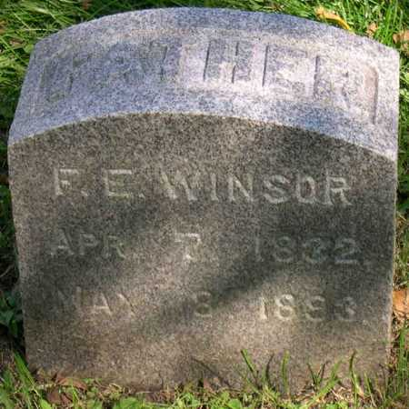 WINSOR, F. E. - Linn County, Iowa | F. E. WINSOR