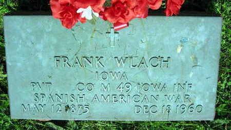 WLACH, FRANK - Linn County, Iowa   FRANK WLACH