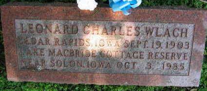 WLACH, LEONARD CHARLES - Linn County, Iowa   LEONARD CHARLES WLACH