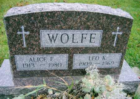 WOLFE, LEO K. - Linn County, Iowa | LEO K. WOLFE