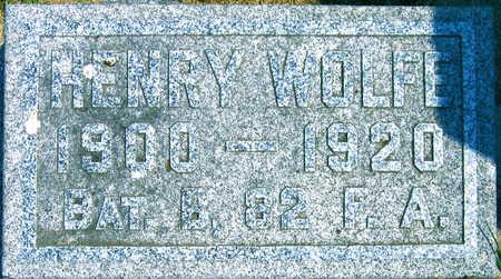 WOLFE, HENRY - Linn County, Iowa | HENRY WOLFE