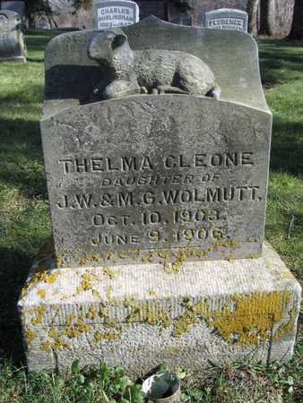 WOLMUTT, THELMA CLEONE - Linn County, Iowa   THELMA CLEONE WOLMUTT