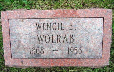 WOLRAB, WENCIL E. - Linn County, Iowa | WENCIL E. WOLRAB