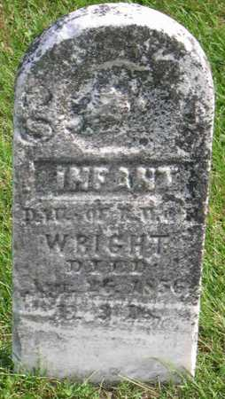 WRIGHT, INFANT DAUGHTER - Linn County, Iowa   INFANT DAUGHTER WRIGHT