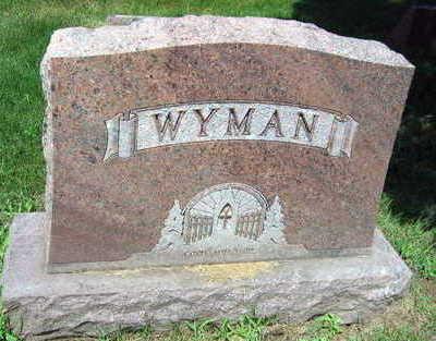 WYMAN, FAMILY STONE - Linn County, Iowa   FAMILY STONE WYMAN