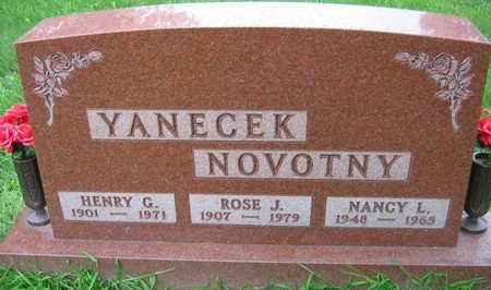 YANECEK NOVOTNY, HENRY G. - Linn County, Iowa | HENRY G. YANECEK NOVOTNY